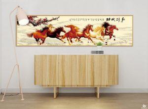 khung tranh hình ngựa